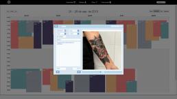 Software de administración para estudio de tatuajes - Ejemplo ventana emergente para la recogida de citas